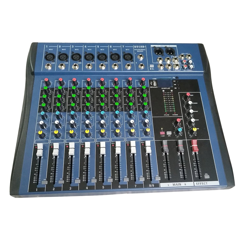 CT8 8 Kanaals Professionele Stereo Mixer Live Usb Studio Audio Geluid Console Netwerk Anker Apparaat Vocale Effect Processor