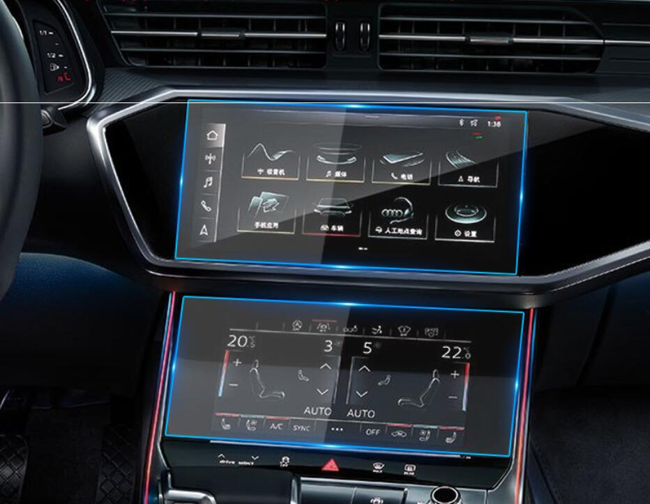 Car Navigation Tempered Glass Screen Protective Film Sticker Radio GPS LCD Dash Board Screen Guard For <font><b>Audi</b></font> Q8 <font><b>A6</b></font> A7 <font><b>2019</b></font> 2020 image