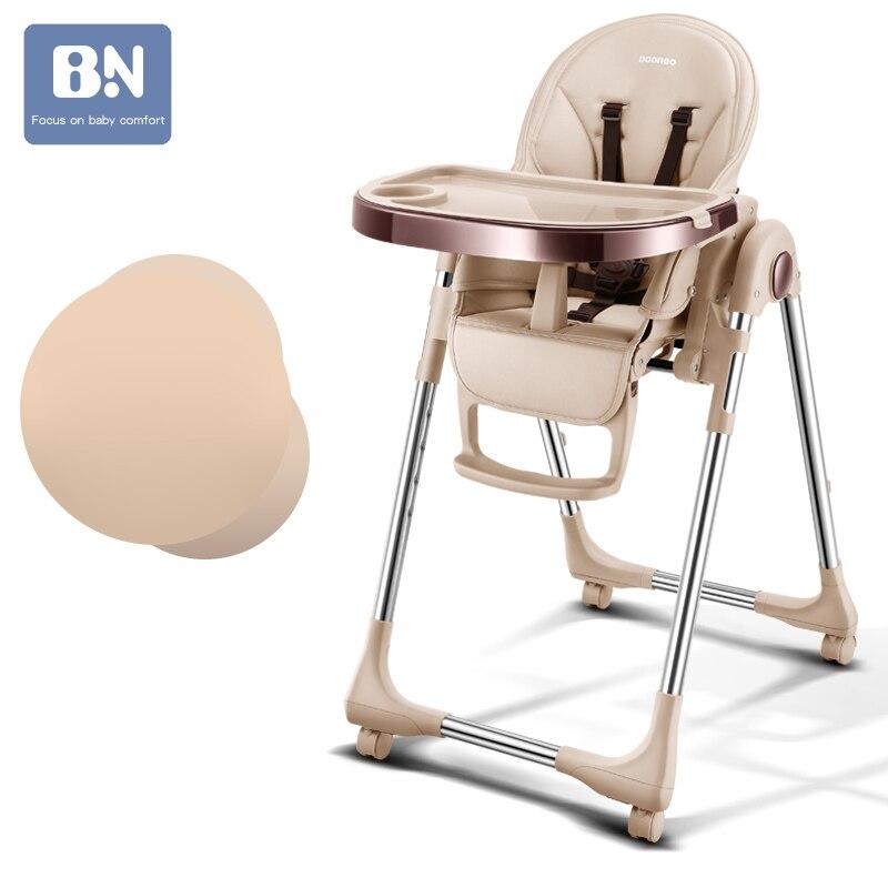 Baoneo ruso envío gratis Auténtico Asiento de bebé portátil mesa de comedor multifunción ajustable sillas plegables para niños