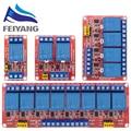 Релейный модуль 1 2 4 6 8 каналов 12 В, плата релейного модуля со стандартным триггером высокого и низкого уровня для Arduino
