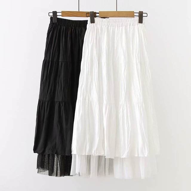 Long Skirt With Lace Ruffles  5