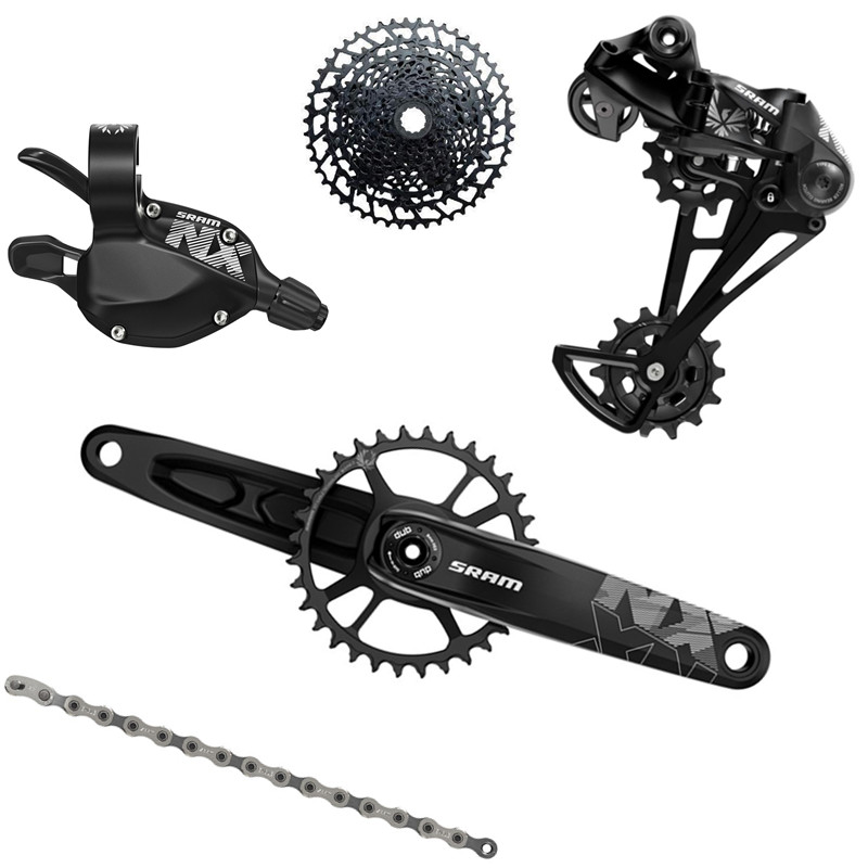 SRAM NX EAGLE 1x12s 11 50T 12 Speed Groupset Kit DUB 34T 170 175 Trigger Shifter RD Cassette Chain Crankset With DUB BBBicycle Derailleur   -