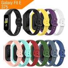 Sport Silicone Strap for Samsung Galaxy Fit E 375 Smart Watch Adjustable Replace Bracelet Accessories