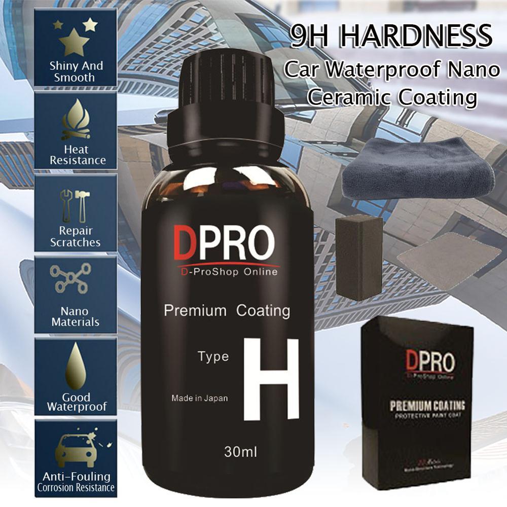 9H Liquid Glass Ceramic Car Coating 30ML Nano Ceramics Waterproof Car Paint Care Liquid Anti-scratch Hydrophobic Polishes
