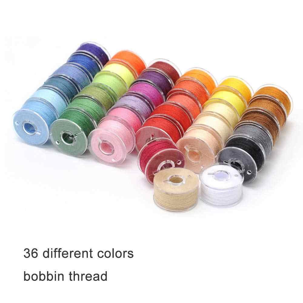 36 bobinas y hilo de coser con funda para m/áquinas de coser Brother//Babylock//Janome//Elna//Kenmore//Singer colores surtidos