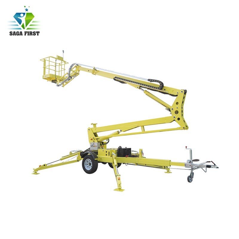 Long Distance Moving Towable Trailing Electric Boom Lift