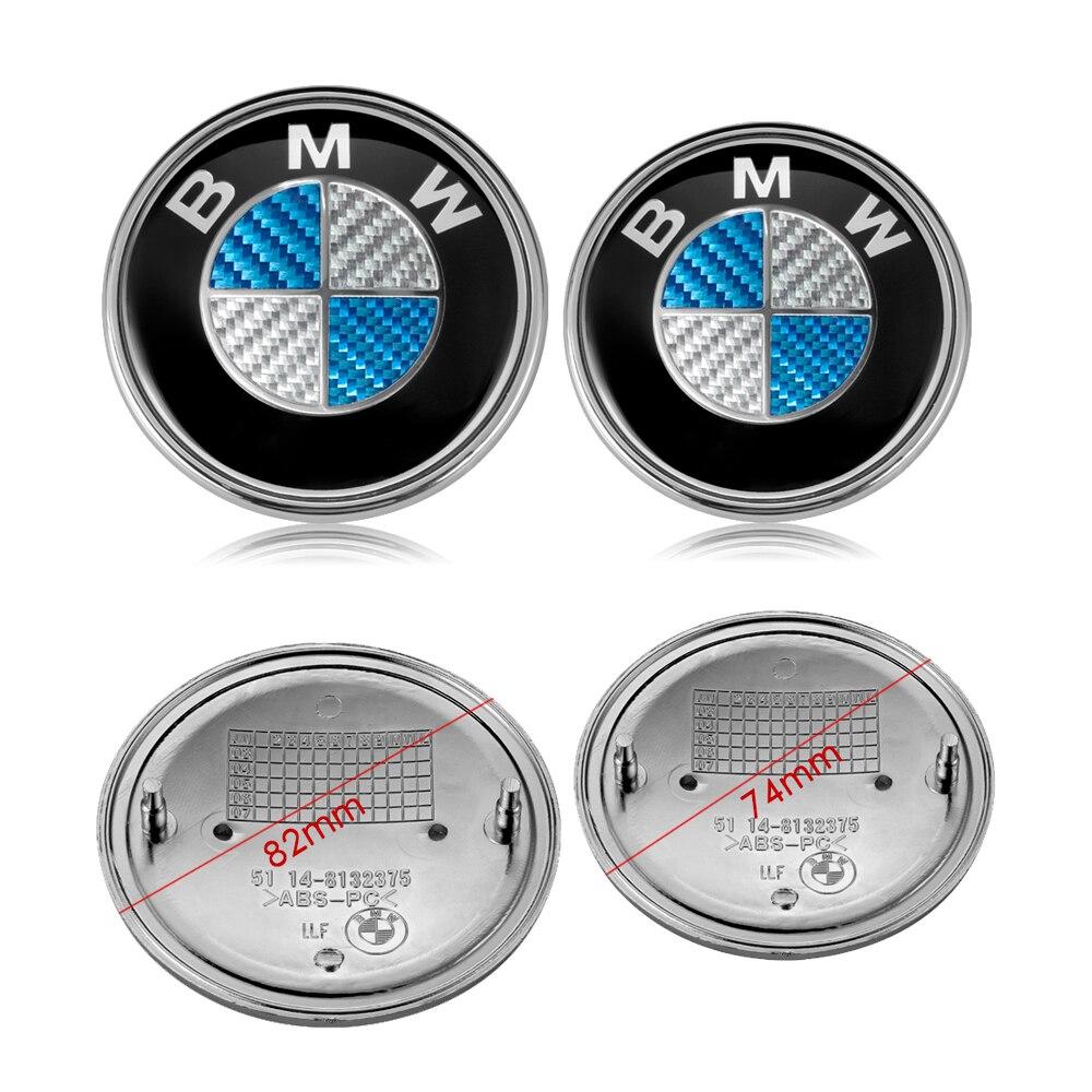 Bmw 74mm Black Bonnet or Boot Badge Emblem E36 E46 E60 E90 X5 E91 E61