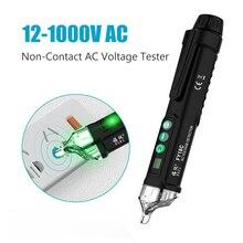 Бесконтактный Тестер Напряжения er индикатор напряжения цифровой 12-1000 В детекторы напряжения переменного тока тестер с розеткой AC Розетка питания Live test Pen