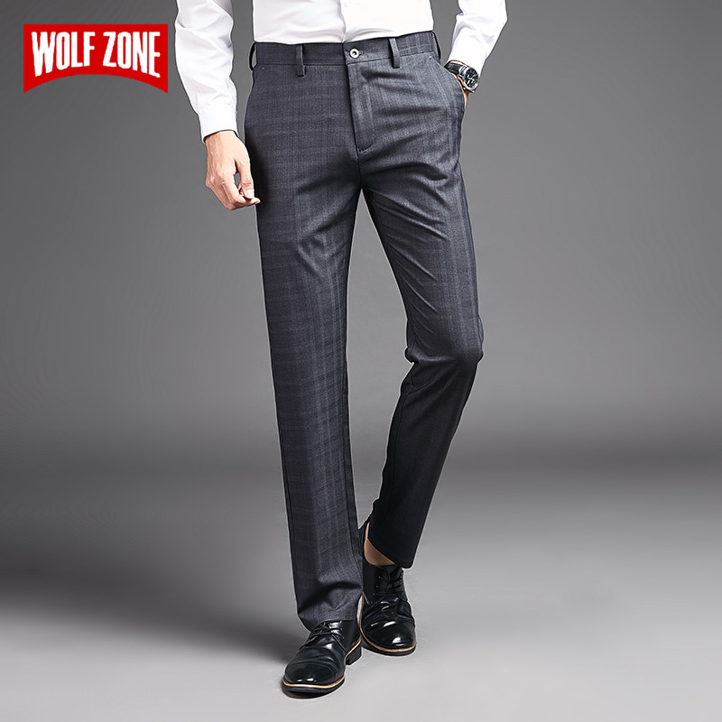 2020 Fashion Men Pants Stretch High Quality Spring Summer Formal Mens Pants Man Classic Business Casual Full Length Trousers