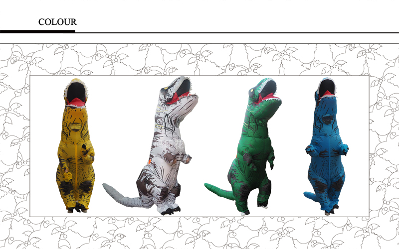 Inflatable Dinosaur T REX Costumes for Kids Blowup Dinosaur Carnival Halloween Mascot Dino Cosplay Costume Party (2)