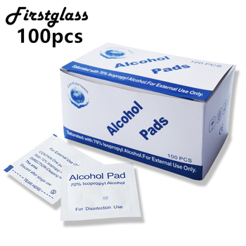 100pcs/lot Alcohol Pad Glass Cleaning Wet Paper Lens Cleaning Paper Tissue Portable Single Package Wipe Polishing Sunglasses