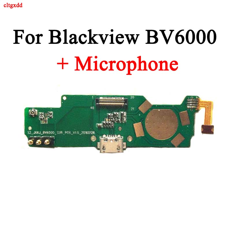 Cltgxdd For Blackview BV6000 USB Board Charge Port+Microphone For BV6000S Phone