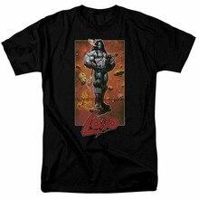 Lobo pose t camisa licenciada de banda desenhada t preto