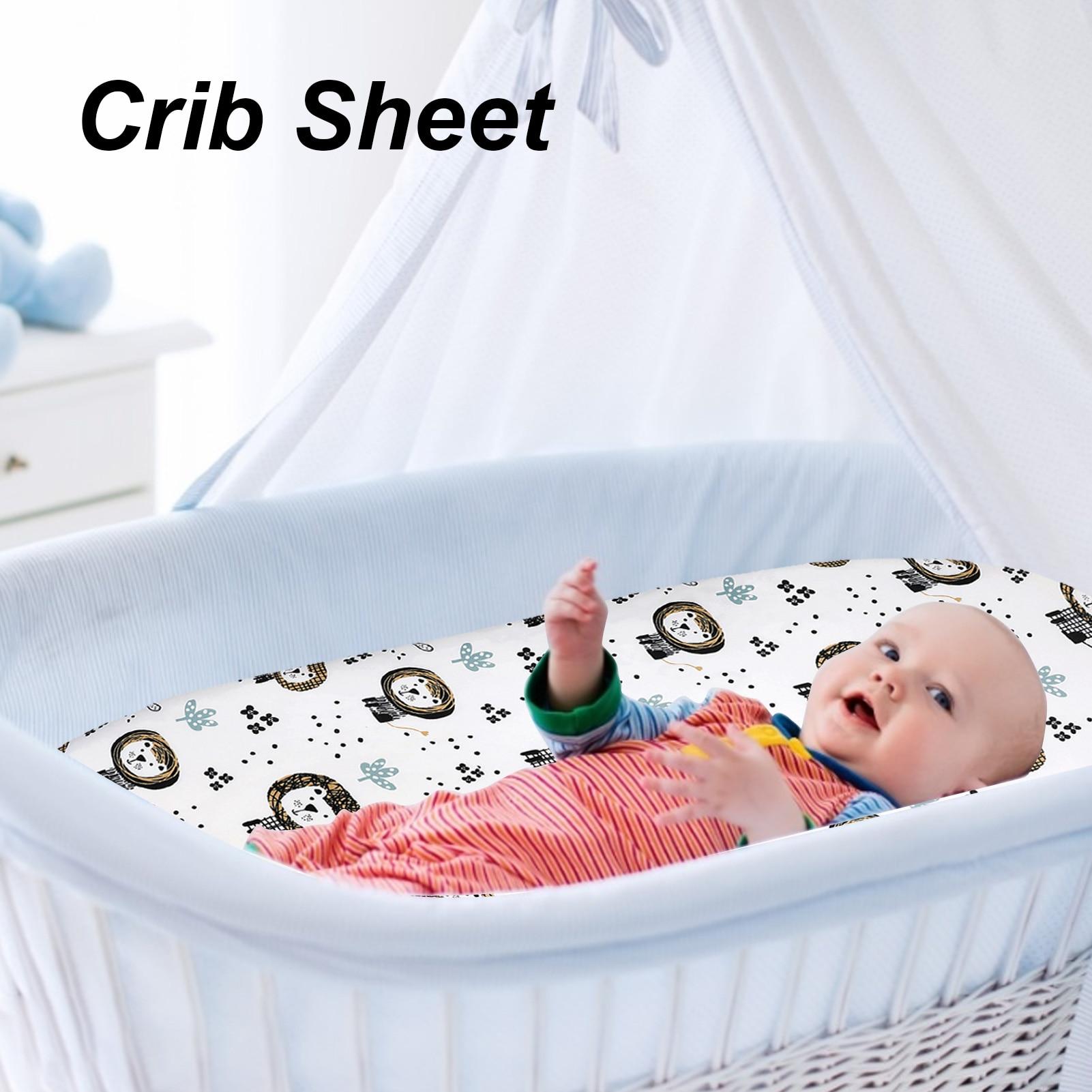 Baby Fitted Sheet For Newborns Cotton Soft Crib Bed Sheet For Children Mattress Covers Newborn Toddler Bedding Set