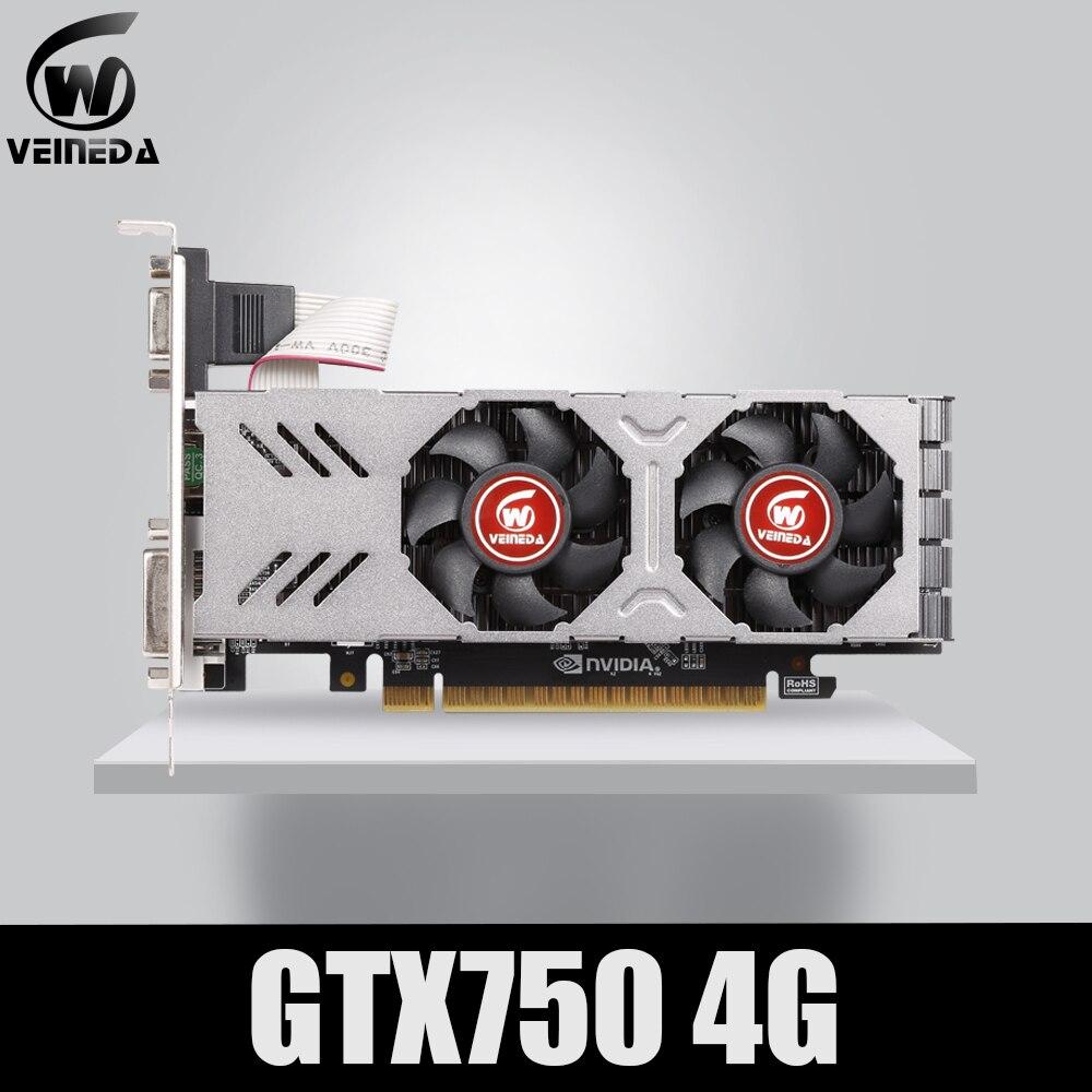 Placa gráfica gtx 750 4gb 128bit 5100mhz gddr5 de veineda placa de vídeo para placas vga nvidia mais forte do que gtx 750 ti