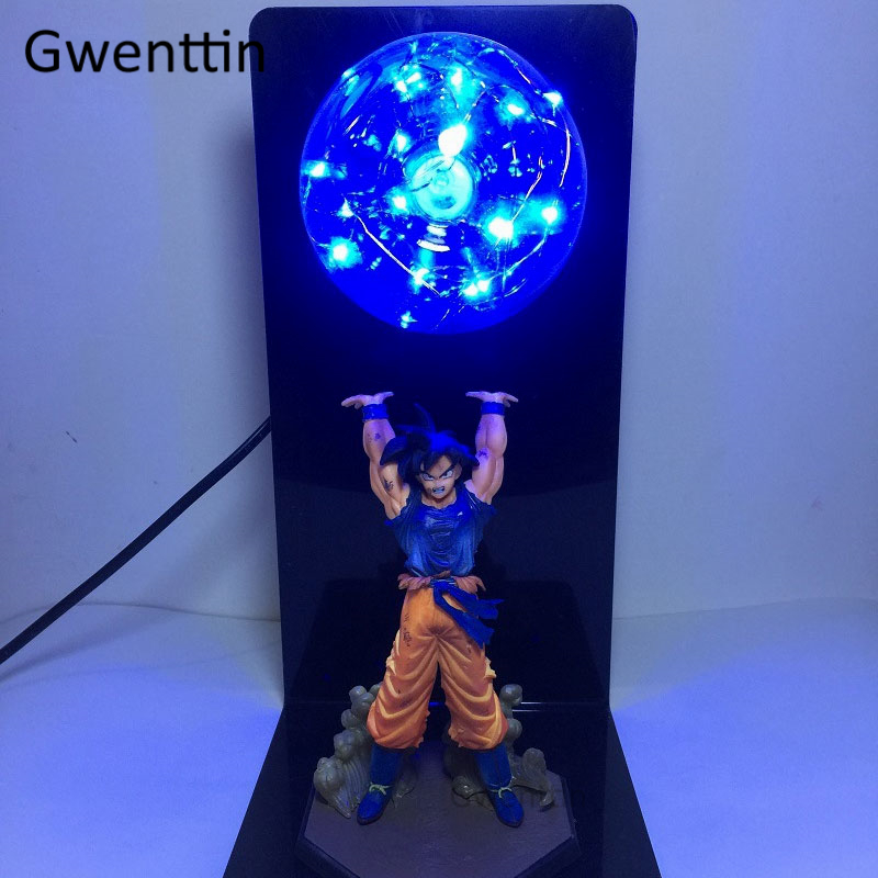 Dragon Ball Night Lamp Son Goku Strength Bombs Table Lamp Luminaria LED String Night Lights For Kids Baby Bedroom Light Fixtures