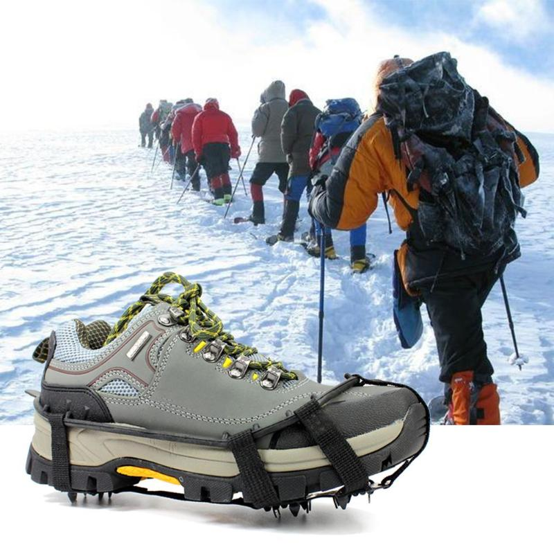 8/24 Teeth Shoe Spiked Grips Cleats Crampons  Ice Snow Shoe Spiked Grips Cleats Crampons Winter Climbing Anti Slip Shoes Cover