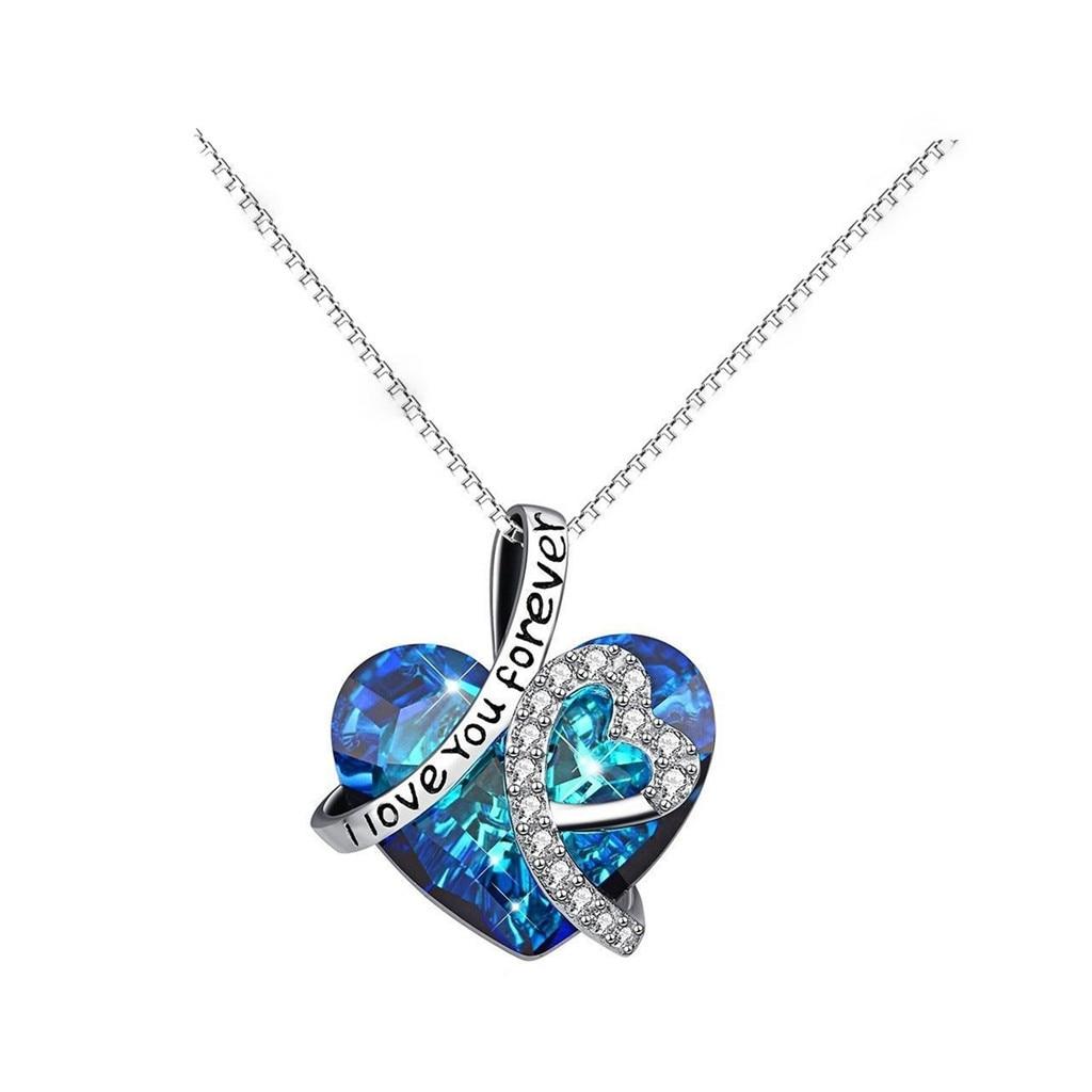 Горячая Распродажа модное ожерелье ювелирные изделия океанское Сердце женское голубое сердце в форме ключицы Бижутерия Цепочка 2020 Прямая ...