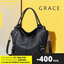 Women bag big 2020 trend handbag brand leather ladies shoulder pommax tote genuine leather for