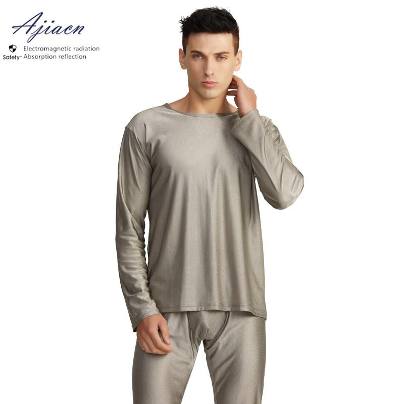Genuine Electromagnetic Radiation Protective 100% Silver Fiber Long Underwear EMF Shielding Close-fitting Long Underwear