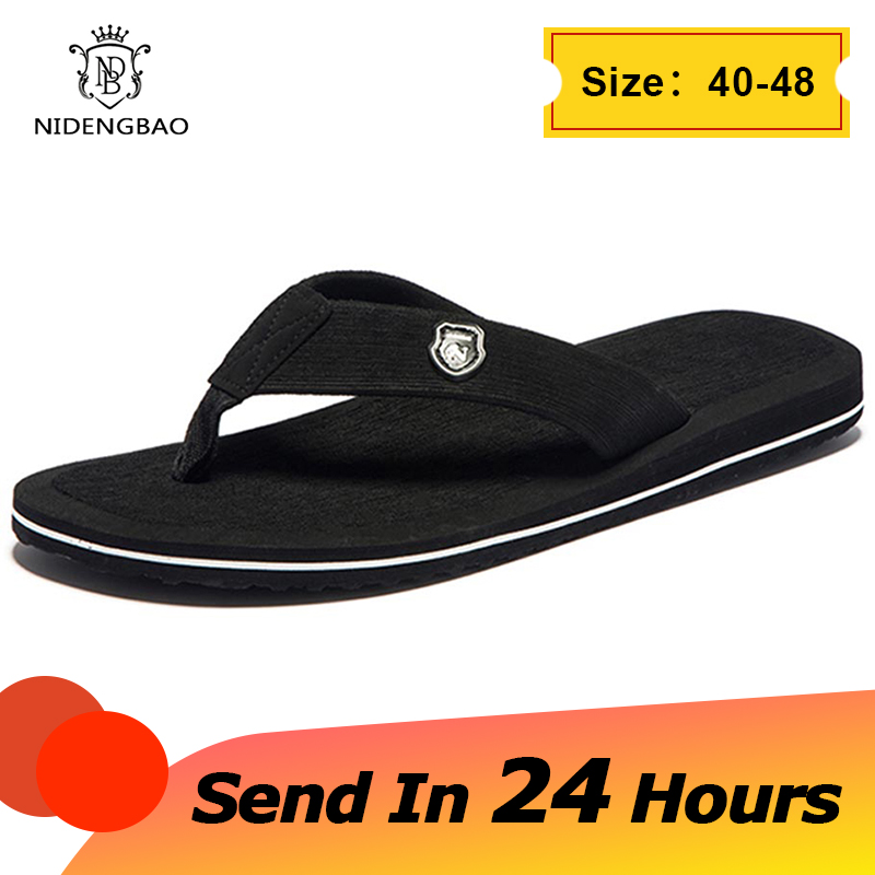 Brand Men flip flops Summer Beach Sandals Slippers for Men Non-slip Slip-on Flats Shoes Men Plus Size 48 49 50 Sandals Pantufa