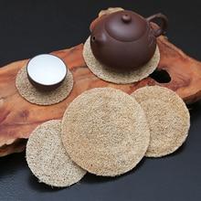 Mat Teapot The Purple Cany-Mat Pot-Bearing Tea-Accessories Cup Sand Insulation Bamboo