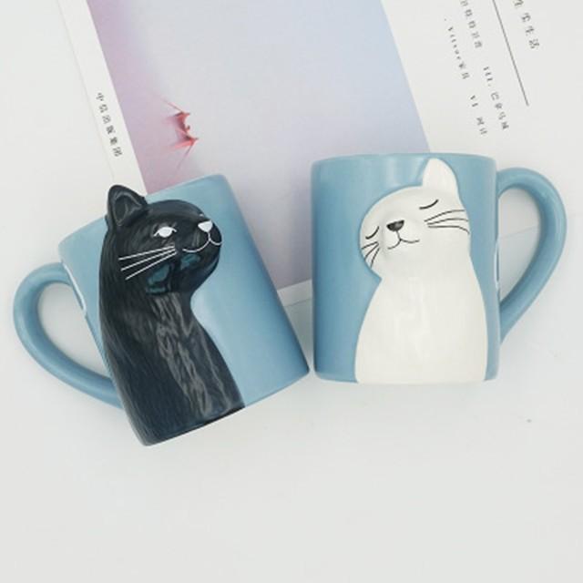 Cat Coffee Couple Mug set 2