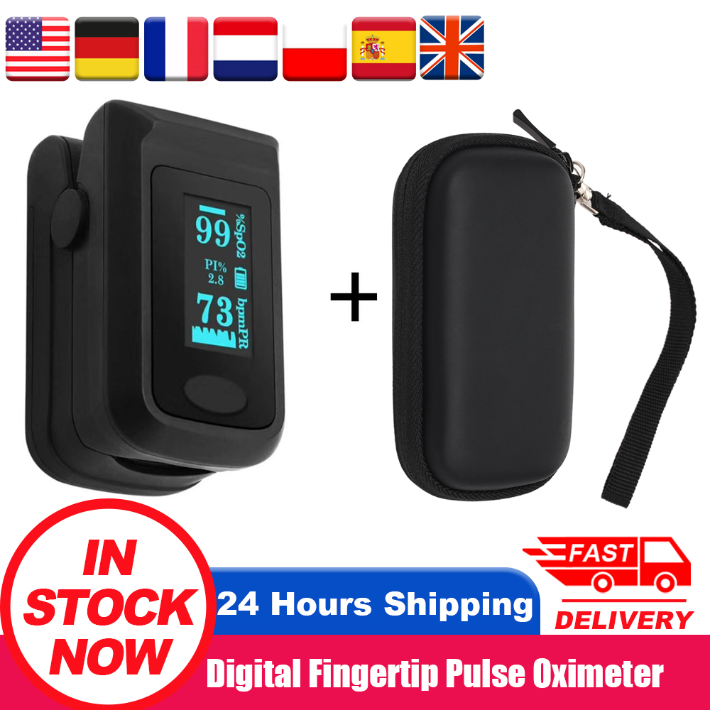 Digital Pulse Oximeter Blood Oxygen Monitor Finger Pulse Oximeter OLED SpO2 Oximetry Monitor Health Monitors Oximetro De Dedo