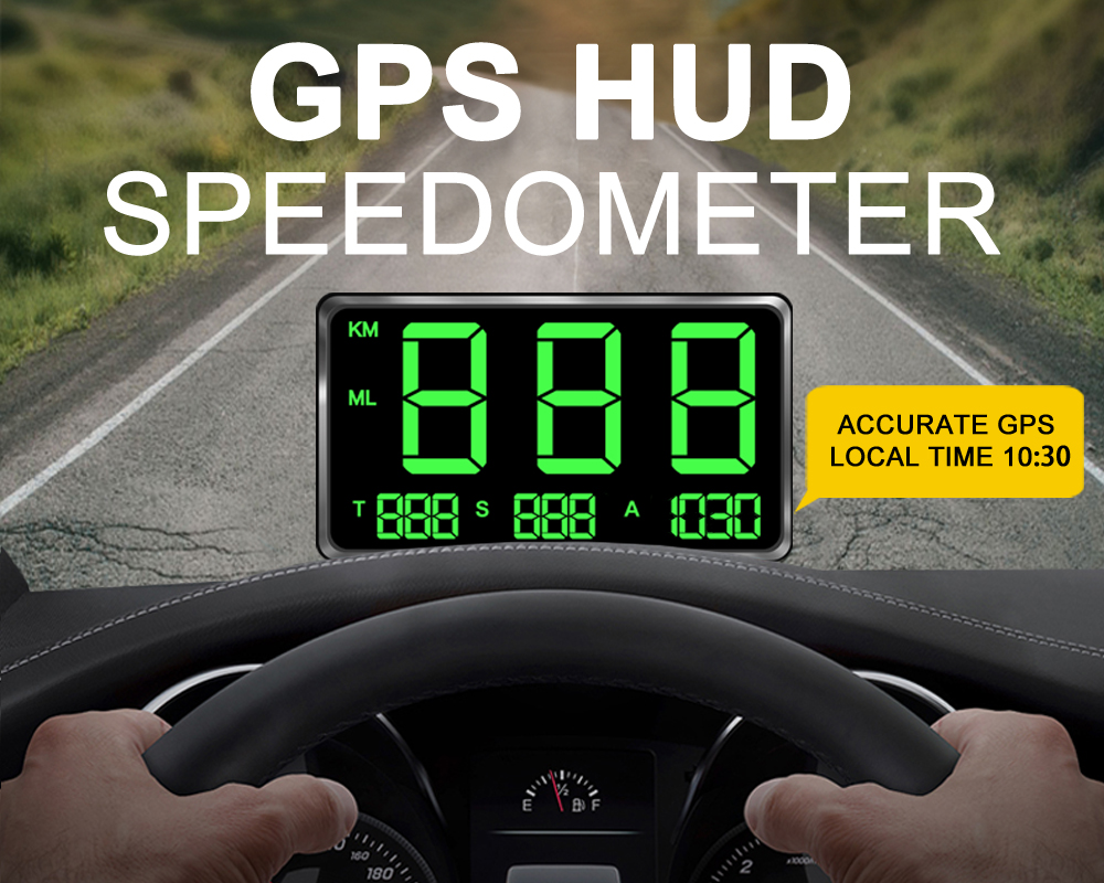 New Large Screen 4 5inch GPS HUD Speedometer Head-Up Display Digital Car Speed Alarm System Universal For all Cars Buses Trucks