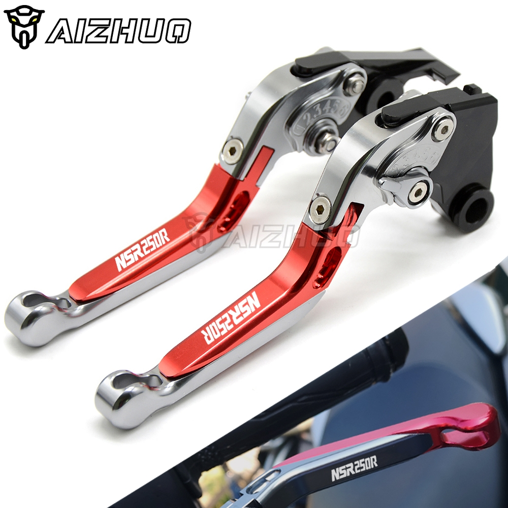 Brakes Clutch Lever Handle CNC Aluminum Motorcycle Accessories FOR HONDA <font><b>NSR</b></font> <font><b>250</b></font> R NSR250R NSR250 CBR250 <font><b>NSR</b></font> <font><b>250</b></font> 1988-1994 image