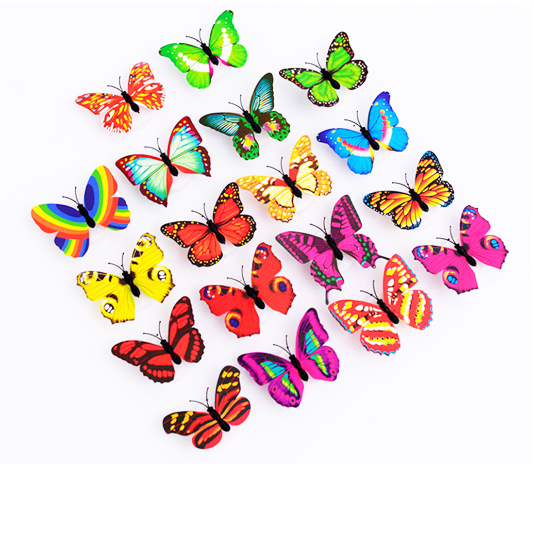 Colorful Changing Butterfly LED Night Light Lamp Home Room Party Desk Wall Decor Lamp Wall Sticker Children Gifts