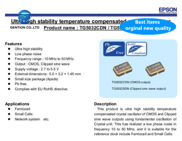 5pcs 100% New And Orginal TG5032CDN 19.2MHZ 19.2M 19.200MHZ Temperature Subsidized Chip Crystal 0.1ppm