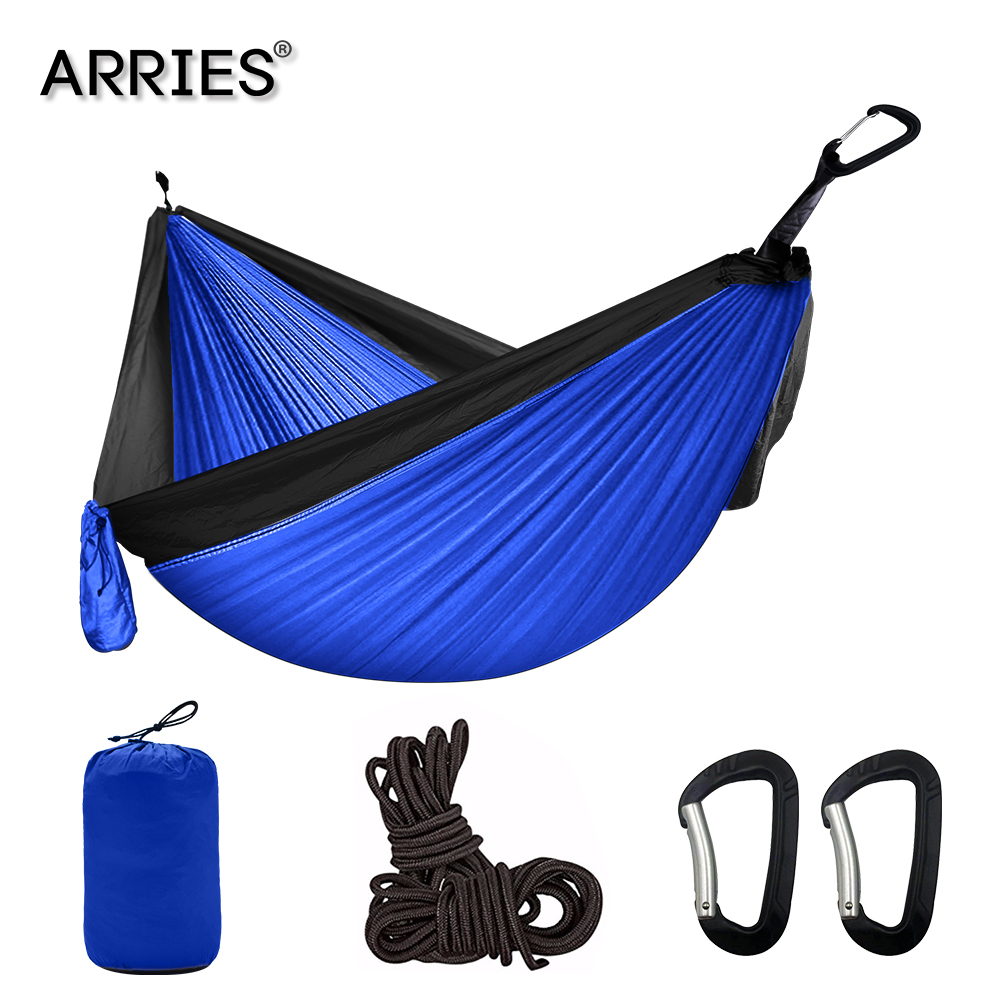 Portable Camping Parachute Hammock Survival Garden Outdoor Furniture Leisure Sleeping Hamaca Travel Double Hanging Bed 300*200cm