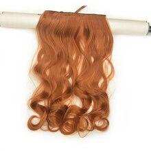 2 Piece Xi.Rocks 5 Clip in Hair Extension 70cm Synthetic Hair Clips Extensions 120g Curly Hairpin Hairpiece Camel Brown Color30J цена и фото