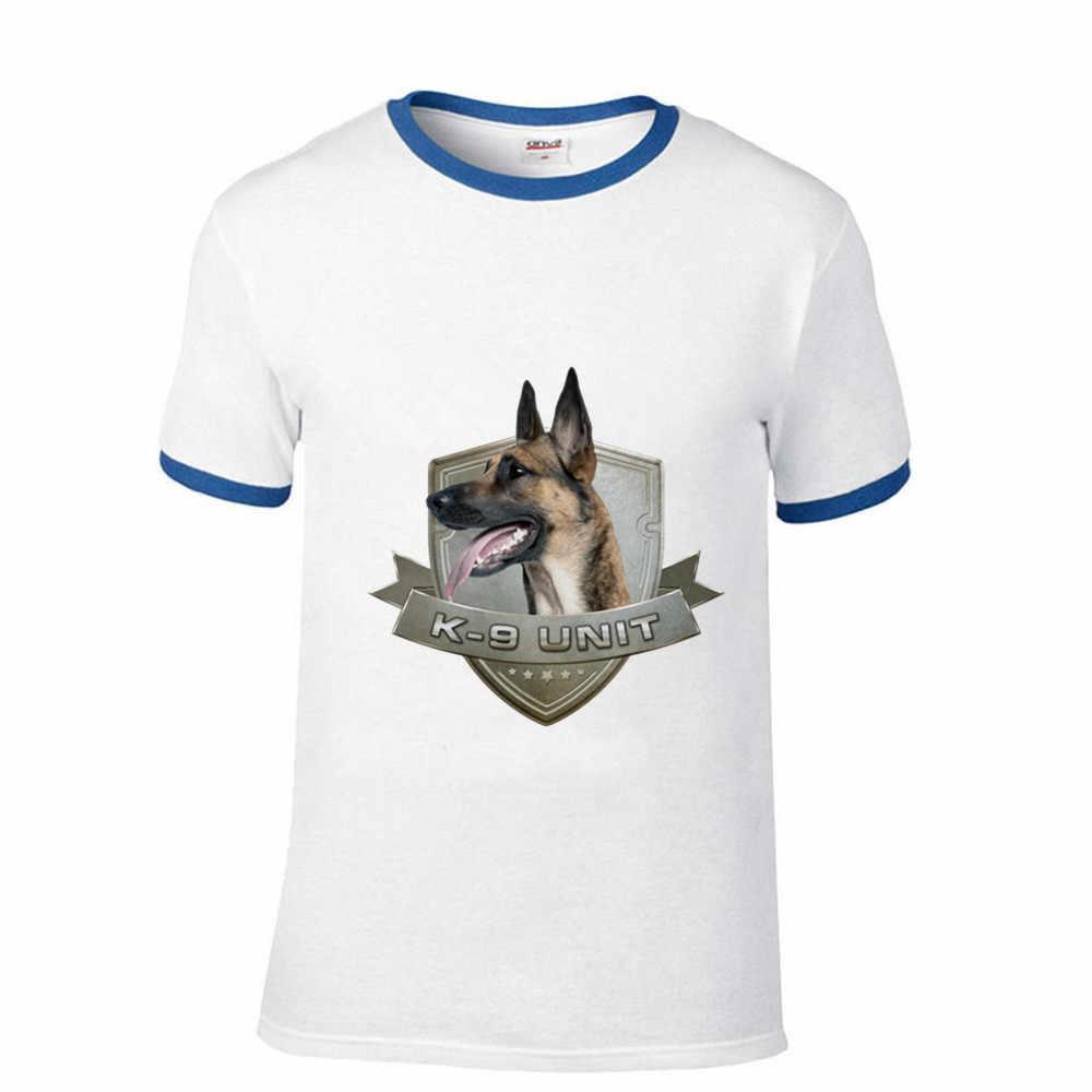 男性のサッカーシャツオフホワイトジムクチュールヒップホップ K9 ユニット-Malinois-ベルギーのシェパード 1 ラグランスリーブ tシャツリルのぞき見