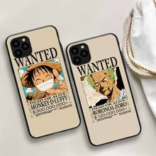 One Piece Luffy Wanted Phone Case For iphone 5s 6 7 8 11 12 plus xsmax xr pro mini se Cover Fundas Coque