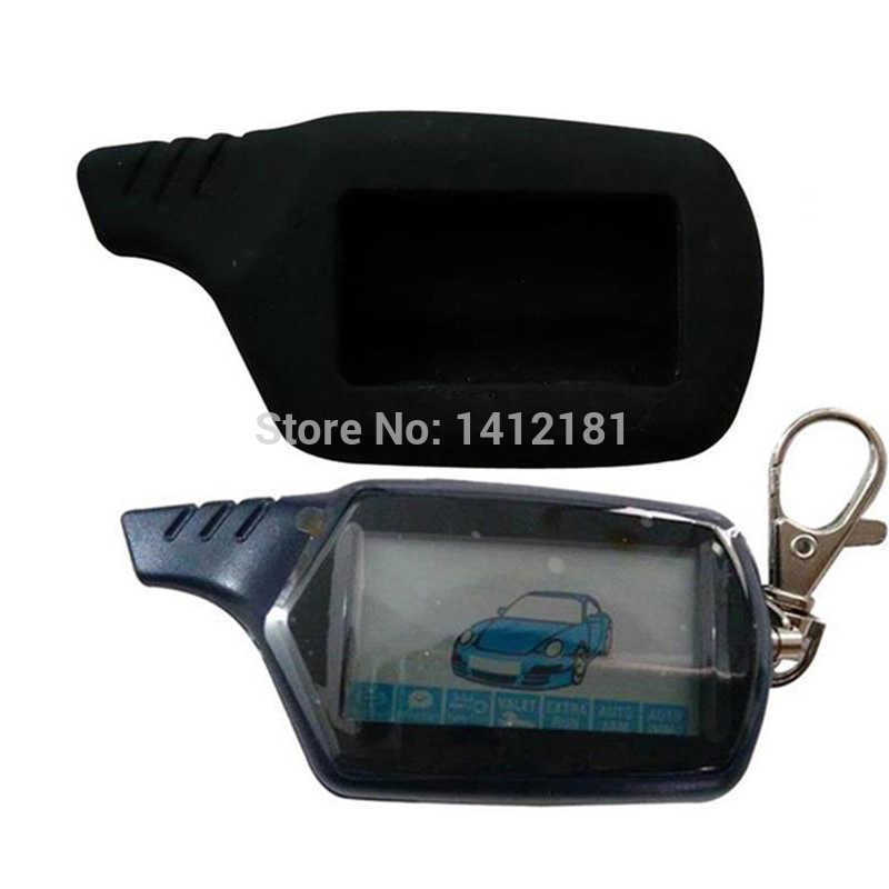 2-way B9 LCD Remote Control Keychain for Russian Vehicle Security Car Alarm System Twage Starline B9 Key Chain Fob Engine Start