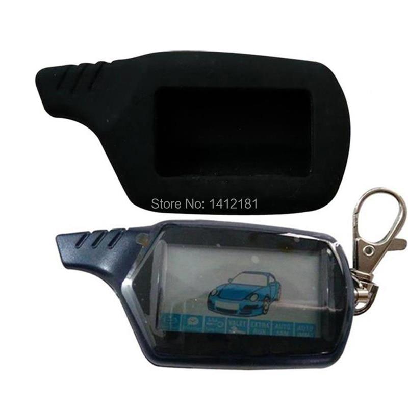 سلسلة مفاتيح B9 LCD بجهاز تحكم عن بعد 2-way لأمن السيارات الروسية نظام إنذار Twage Starline B9 مفتاح سلسلة تشغيل محرك فوب