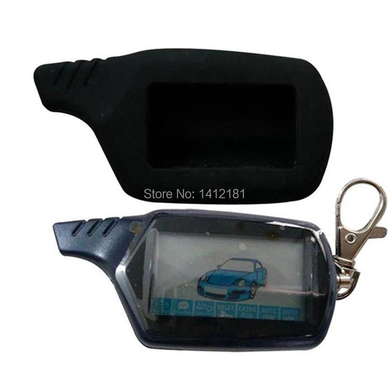 2-way b9 lcd chaveiro de controle remoto para o sistema de alarme de carro de segurança do veículo russo twage starline b9 corrente chave fob partida do motor
