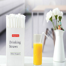 collapsible straw L 205MM D 5MM transparent flexible environmentally friendly Disposable straws 300pcs/lot free shipping