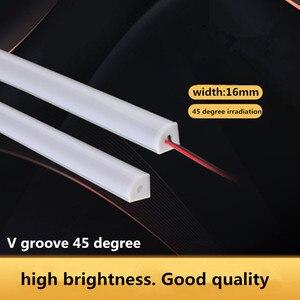 12VDC 50cm/36LED 45 degree angle irradiation highlight LED cabinet light 7020 highlight imported chip V type rigid light bar(China)