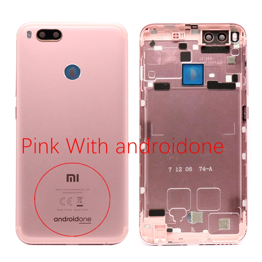 Image 4 - for Xiaomi Mi A1 Back Battery Cover Rear Door Case Chassis For Xiaomi Mi A1 Battery Cover Back Housing With Androidone Replace-in Mobile Phone Housings & Frames from Cellphones & Telecommunications