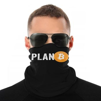 Plan B Bitcoin Crypto Cryptocurrency Scarf Half Face Mask 1