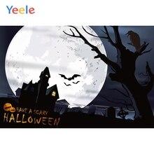 Yeele Halloween Horror Moon Castle Pumpkin Crow Tomb Photography Backdrop Personalized Photographic Backgrounds For Photo Studio