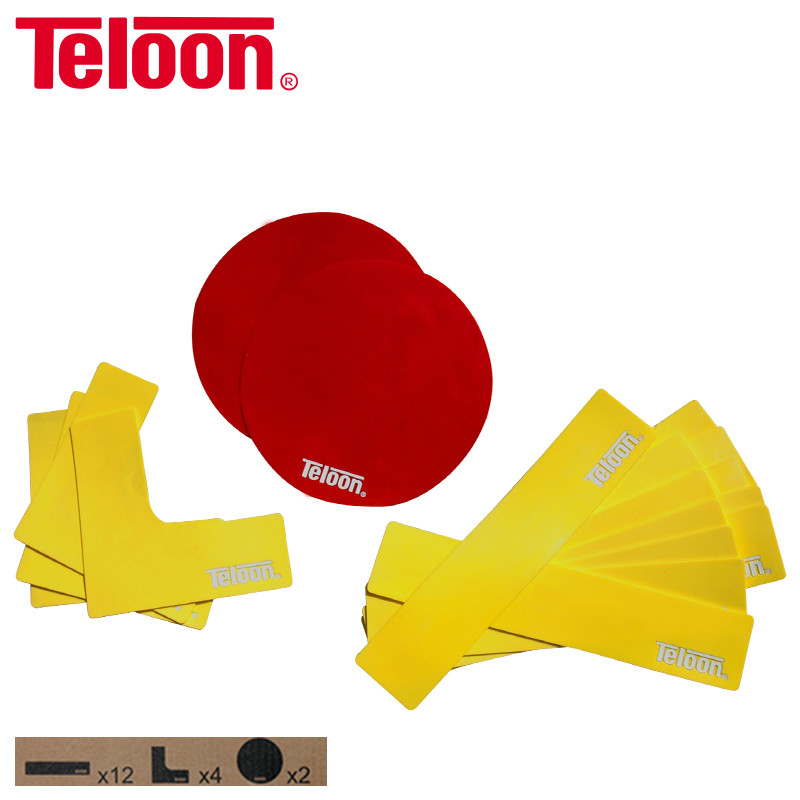 18 PCS Teloon Colorful Tennis Markers Windproof Rain Protection Tenis Badminton Basketball Volleyball Accessory Durable K044SPA