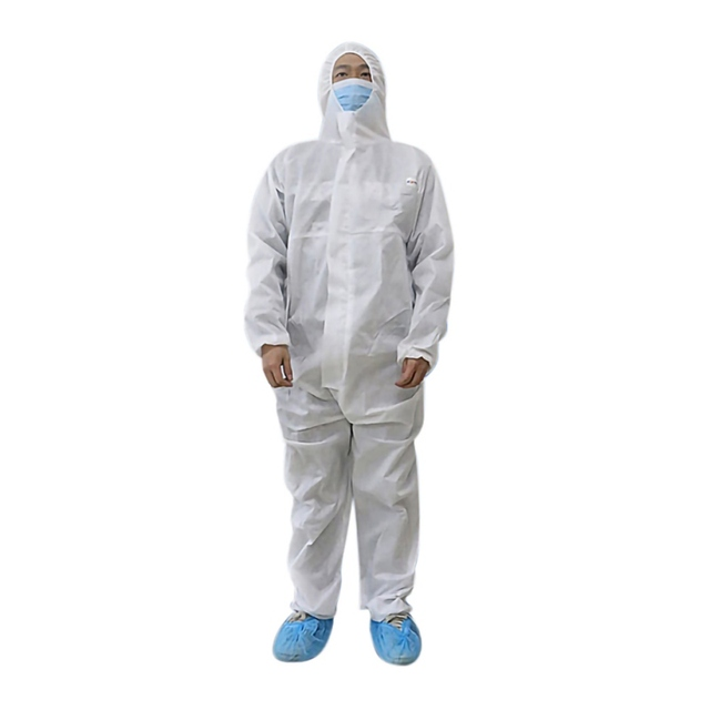 PPE Suit Disposable Isolation Gowns Non Woven Dustproof Onesie Protective Clothing Disposable  Garment Protective Clothing 2
