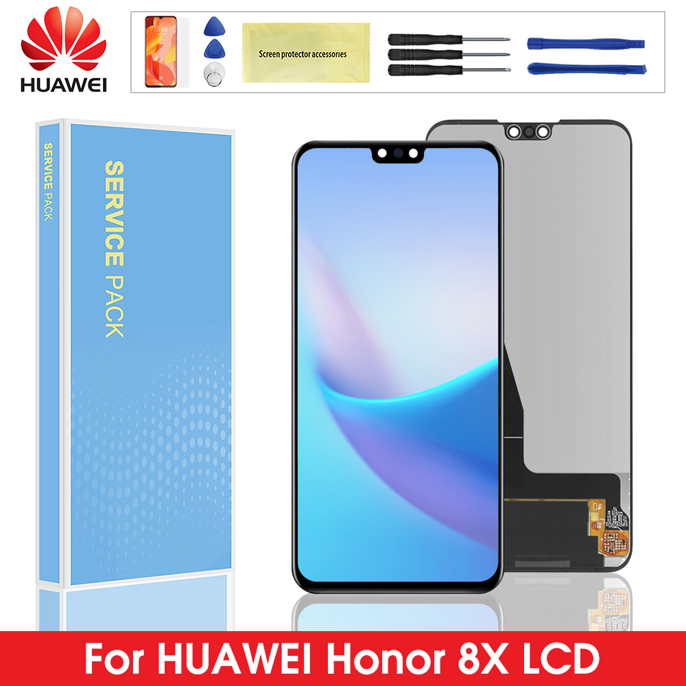 Original Display For Huawei <font><b>Honor</b></font> <font><b>8X</b></font> <font><b>LCD</b></font> Touch Screen Digitizer Assembly Replacement with Frame For Huawei honor8x display image