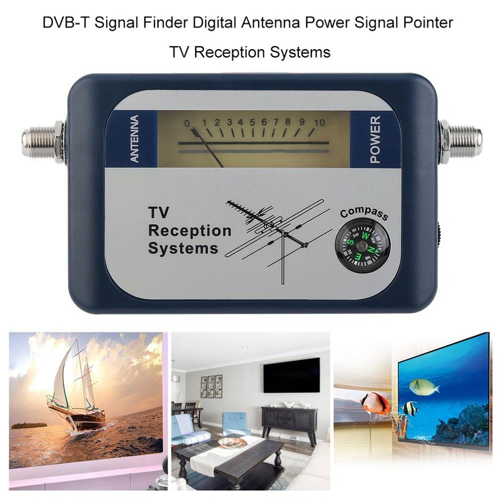 <font><b>DVB</b></font>-T <font><b>Finder</b></font> Digital Aerial Terrestrial TV Antenna Signal Power Strength Meter Pointer TV Reception Systems With Compass image