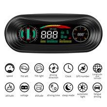 SATONIC P18 5V USB GPS HUD Head up Display Geschwindigkeit Pitch Roll Winkel Überwachung mit 5 Schnittstellen display Multiful farbe Display