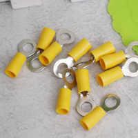20 piezas amarillo de 10-12 Awg Rv 5,5-6 coche con aislamiento de crimpado de anillo conector de Cable de Terminal de Cable de coche Kit de accesorios